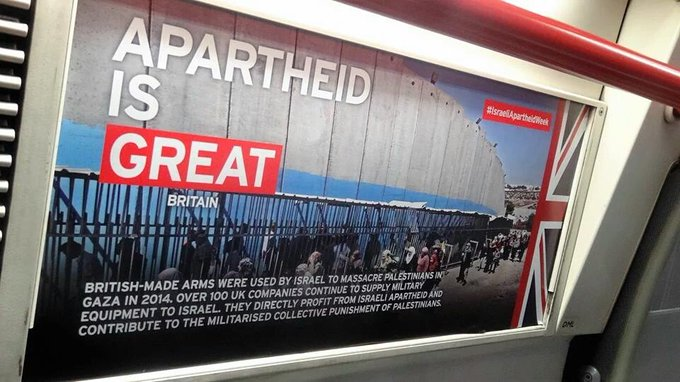 METRÔ DE LONDRES IMPREGNADOS DE CARTAZES ANTI-ISRAEL