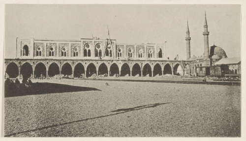 Medina: Central station in front of the west gate, 1914